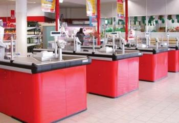 Muebles caja supermercados for Muebles para supermercado